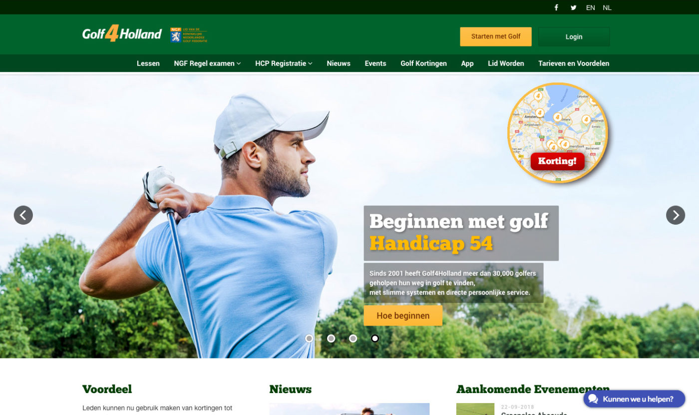 Golf4Holland Home Page